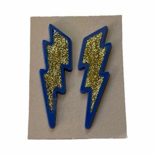 Avon Lightning Glitter Pierced Earrings Chargers